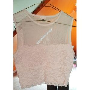 🍂2/$40!🍂 Garage White Lace Mesh Top